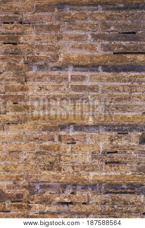 Old brick wall as background