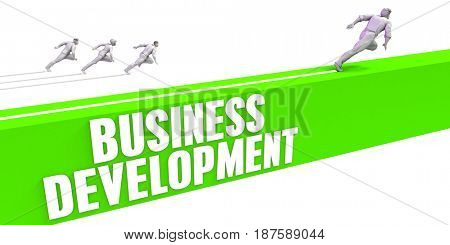 Business Development as a Fast Track To Success 3D Illustration Render