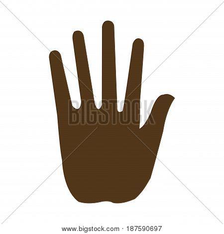 hand man human silhouette image vector illustration