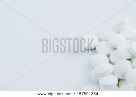 Pharmaceutical. Drugs on the table