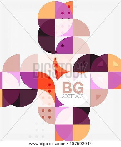 geometric circle abstract background. template background for workflow layout, diagram, number options or web design