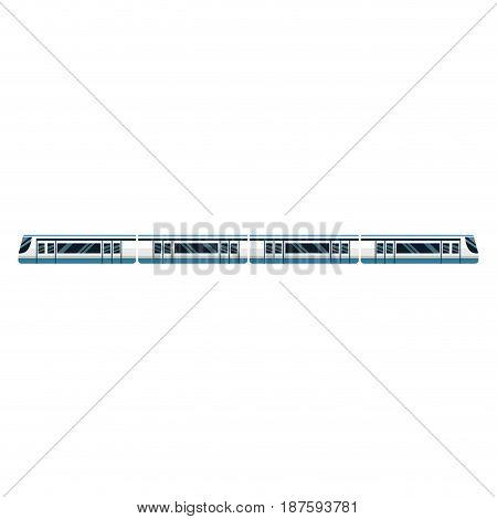 high speed train transport passenger modern isolated vector illustration