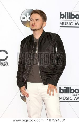 LAS VEGAS - MAY 21:  Prince Michael Jackson at the 2017 Billboard Awards Press Room at the T-Mobile Arena on May 21, 2017 in Las Vegas, NV