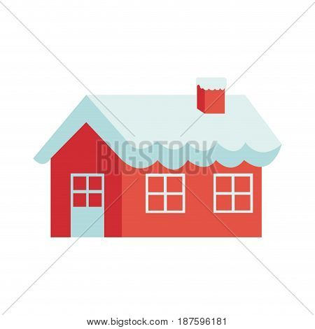 Christmas gingerbread house sugar decoration vector illustration