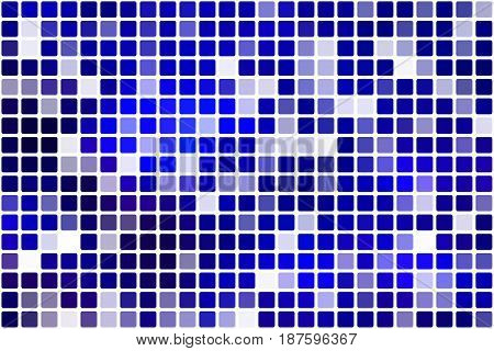 Dark Blue Occasional Opacity Mosaic Over White