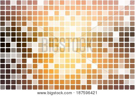Yellow Coral Pink Black Occasional Opacity Mosaic Over White