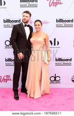 LAS VEGAS - MAY 21:  Sam Hunt, Hannah Lee Fowler at the 2017 Billboard Music Awards - Arrivals at the T-Mobile Arena on May 21, 2017 in Las Vegas, NV