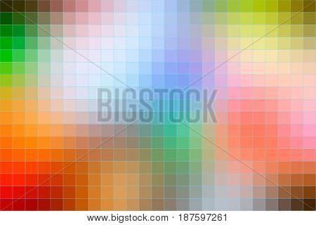 Rainbow Colors Mosaic Square Tiles Background