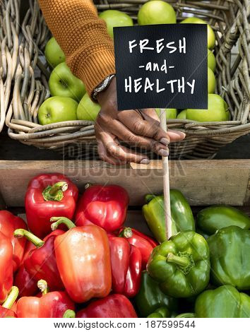 Fresh Natural Organic Product Concept