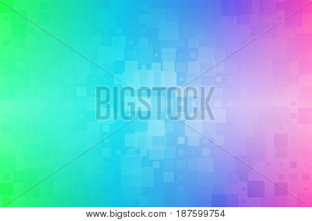 Green Blue Pink Glowing Various Tiles Background