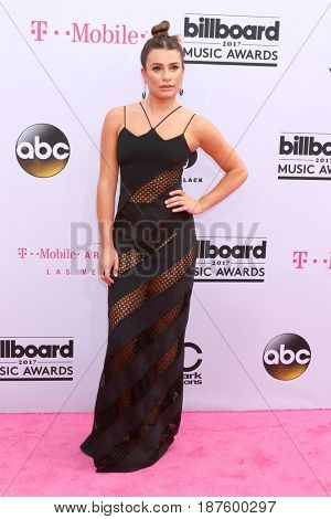LAS VEGAS - MAY 21:  Lea Michele at the 2017 Billboard Music Awards - Arrivals at the T-Mobile Arena on May 21, 2017 in Las Vegas, NV