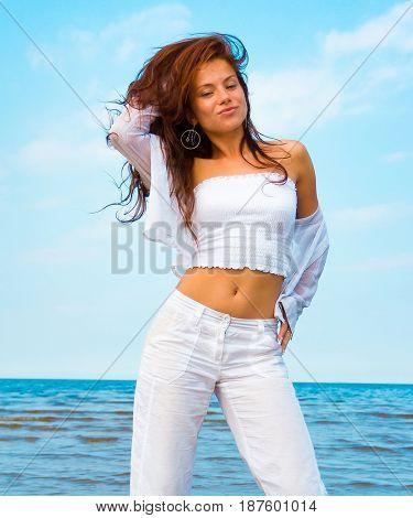Portrait Summer Beach