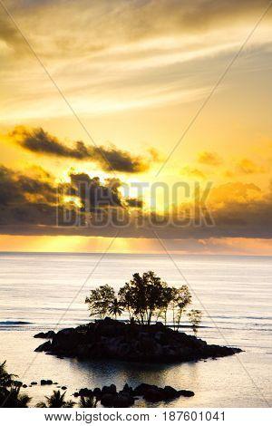 Golden Glow Island View