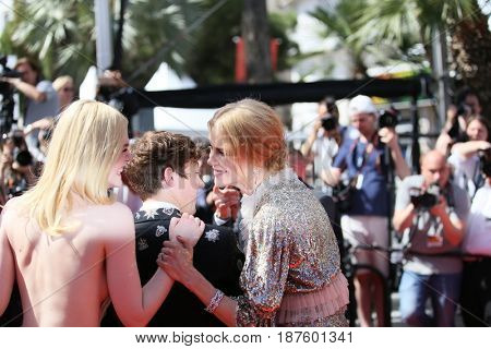 Elle Fanning, Nicole Kidman attend the 'How To Talk To Girls At Parties' screening during the 70th Cannes Festival at Palais des Festivals on May 21, 2017 in Cannes, France.