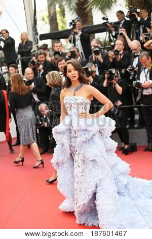 Lana El Sahely attends the 'The Killing Of A Sacred Deer' screening during the 70th Cannes Film Festival at Palais des Festivals on May 22, 2017 in Cannes, France.