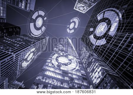 Internet of things concept in city