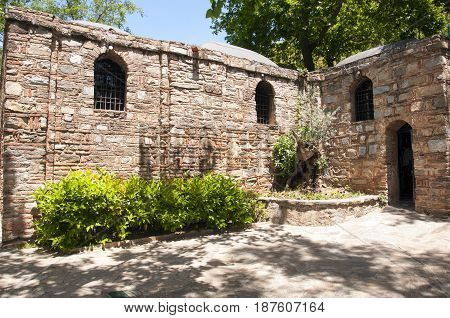 The House of the Virgin Mary (Meryemana), believed to be the last residence of Mary, mother of Jesus. Ephesus, Turkey