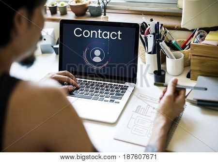 Graphic of contact us customer service