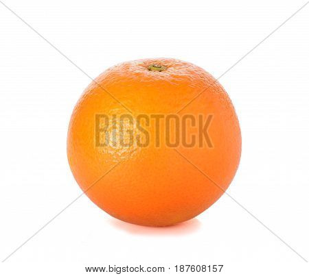 Sweet orange fruit isolated on white background