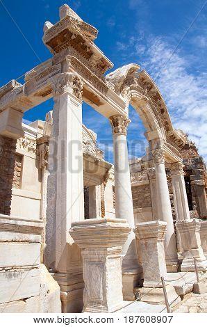 Temple of Hadrian, Ephesus in izmir, Turkey,