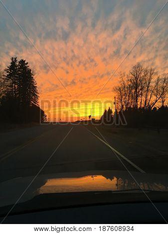 Photo od a sunset in Rice, MN, 2017