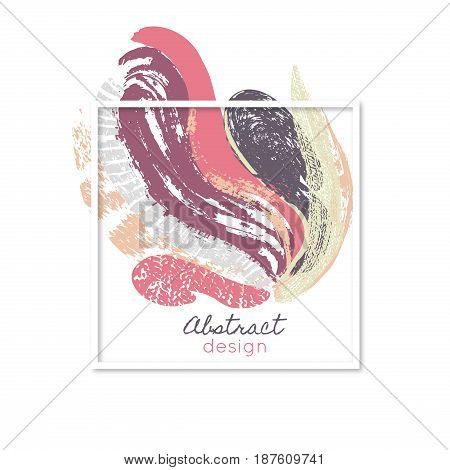 Creative abstract background. Art. Paint splash. Daub. Colorful texture. Color smears. Frame. Vector illustration eps10
