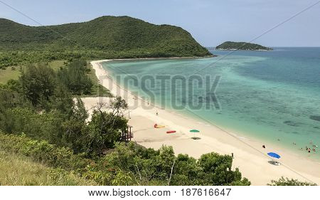beach view on Mountain or top view