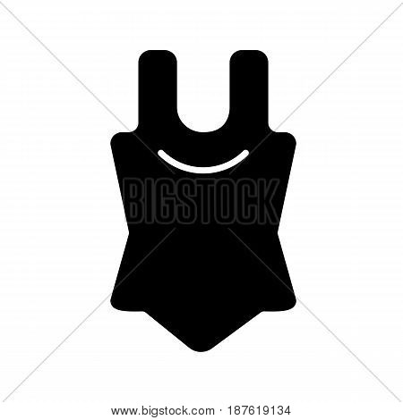 Bodysuit vector icon. Black and white body illustration. Solid linear clothes icon. eps 10