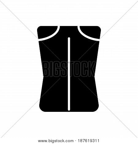 Woman pants vector icon. Black and white woman clothes illustration. Solid linear clothing icon. eps 10