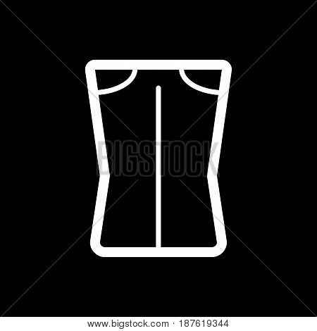 Woman pants vector icon. Black and white woman clothes illustration. Outline linear clothing icon. eps 10