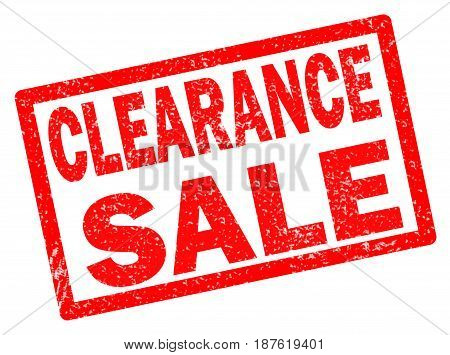 clearance sale stamp on white background. clearance sale stamp sign.