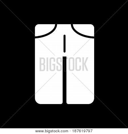 man pants vector icon. Black and white man clothes illustration. Solid linear clothing icon. eps 10