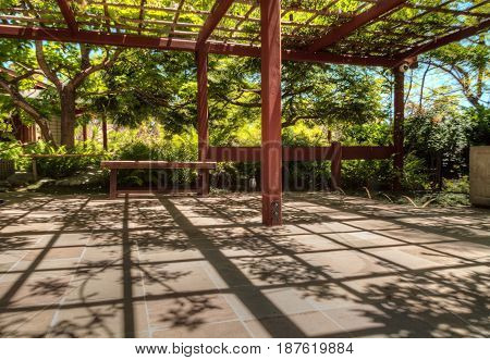 Tranquil Japanese Friendship Garden At The Balboa Park In San Diego