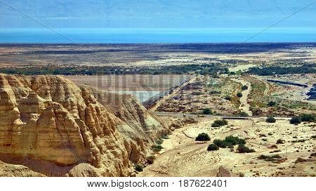 View Of Canyon In Judaean Desert