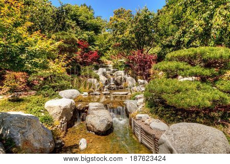 Relaxing, Zen Like Pond With A Waterfall