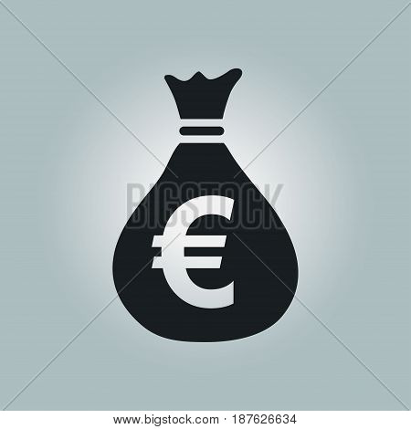 Euro EUR currency symbol. Flat design style.