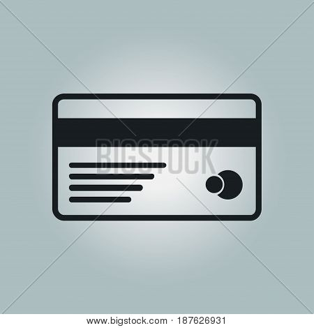 Vector credit card icon. Flat design style.