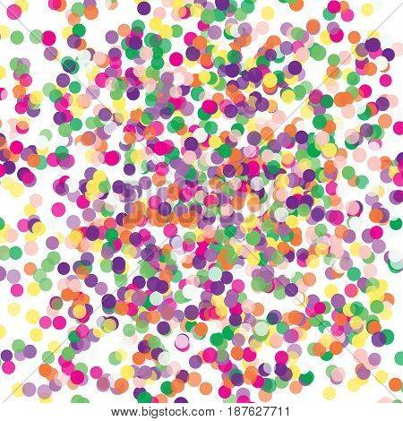 Colorful Flying Scattered Elements Of Decoration Of The Celebration. Abstract Background With Fallin