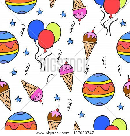 Collection stock circus cute doodles vector illustration