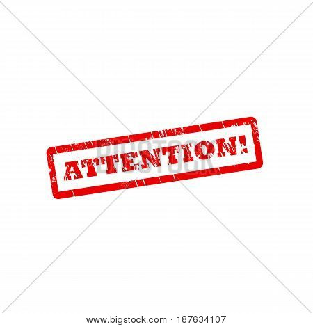ATTENTION grunge vector stamp seal with scratches