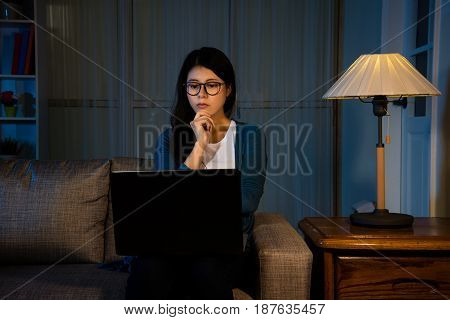 Asian Female Student Watching The Latest Movie