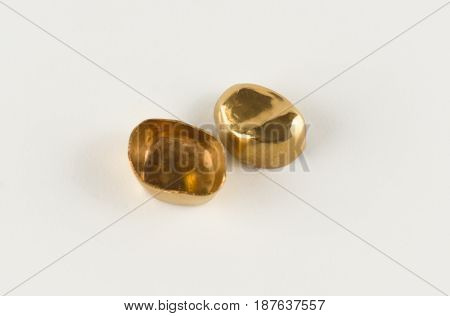 steel crowns with yellow coated with titanium nitride