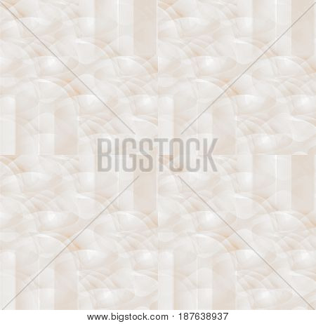 Delicate abstract light  background. Regular round pattern in white and beige shades overlaying.