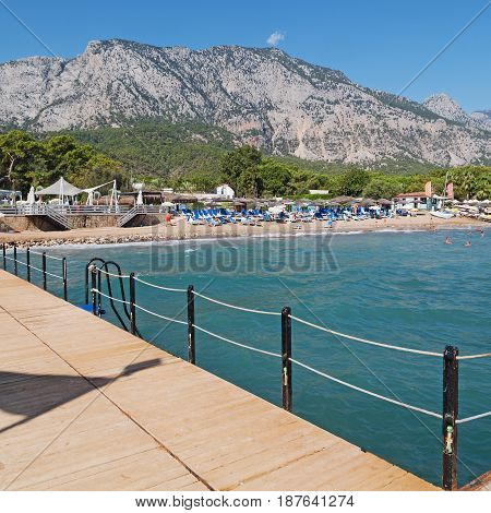 The Beautiful   Seashore   And Sea For The Tourist Relax