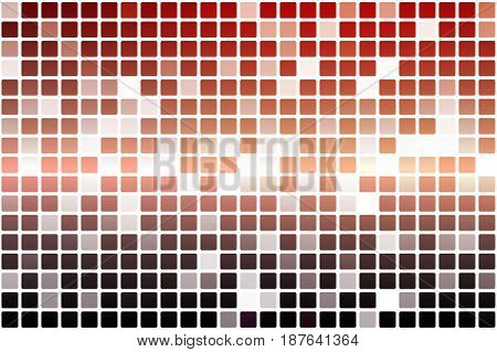 Red Orange Purple Occasional Opacity Mosaic Over White