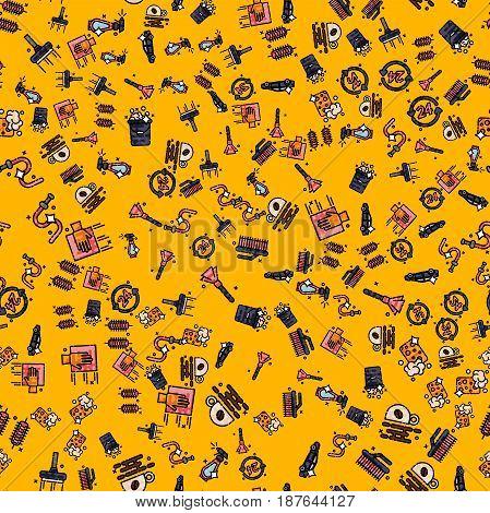 Car wash pattern. Vector illustration EPS 10