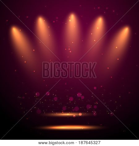 Sparkling stars, flickering and flashing lights. Collection of different light effects in vector