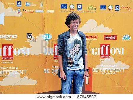 Giffoni Valle Piana Sa Italy - July 24 2014 : Mirko Trovato at Giffoni Film Festival 2014 - on July 24 2014 in Giffoni Valle Piana Italy