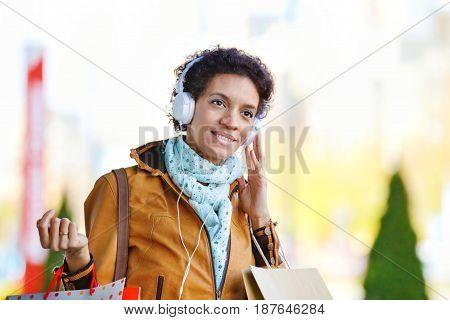 Beautiful Woman In Shopping