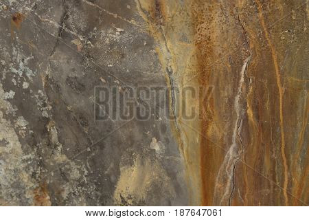 rather old cement wall with brown stain on it. this image for textureabstract and background concept